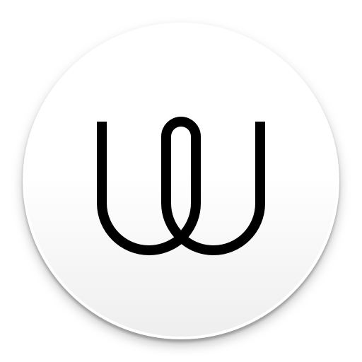 The logo and icon for Wire messaging app, featuring a black stylised 'W' letter on a white background.
