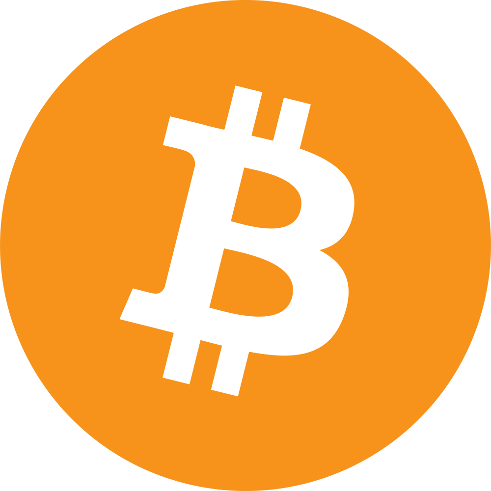 The logo for Bitcoin