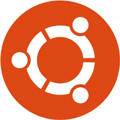 The logo and icon for Ubuntu OS, represented by a segmented circle shape with three equally distributed solid circles. Each segment and circle combined represent a person and together the three appear to be holding hands to complete the logo.