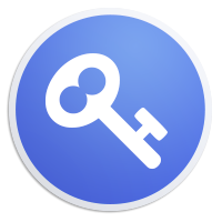 The logo and icon for Keeweb, represented by a white key illustration on a blue background.