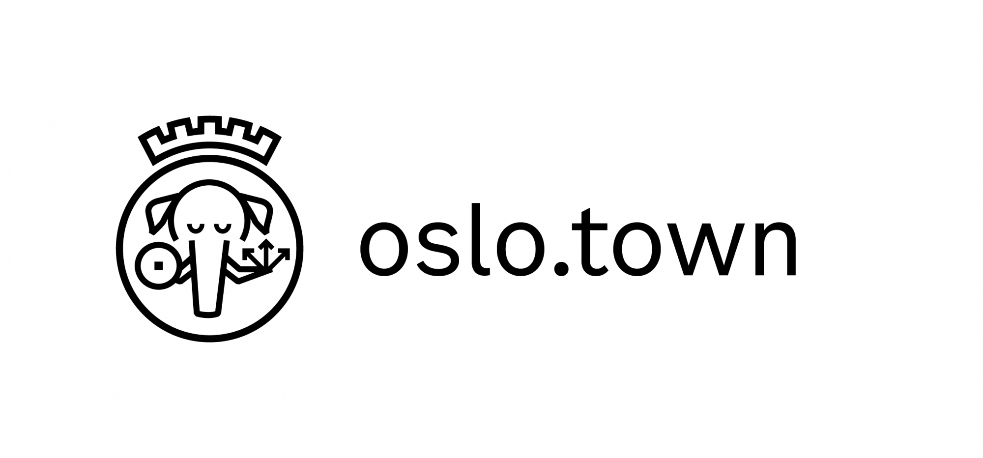A logo that riffs on the Oslo Kommune logo, but features a mastodon instead of St Hallvard.
