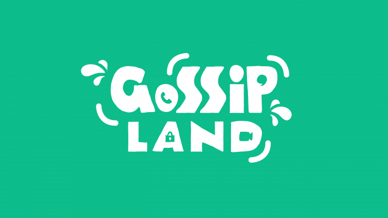 A logo for Gossip Land