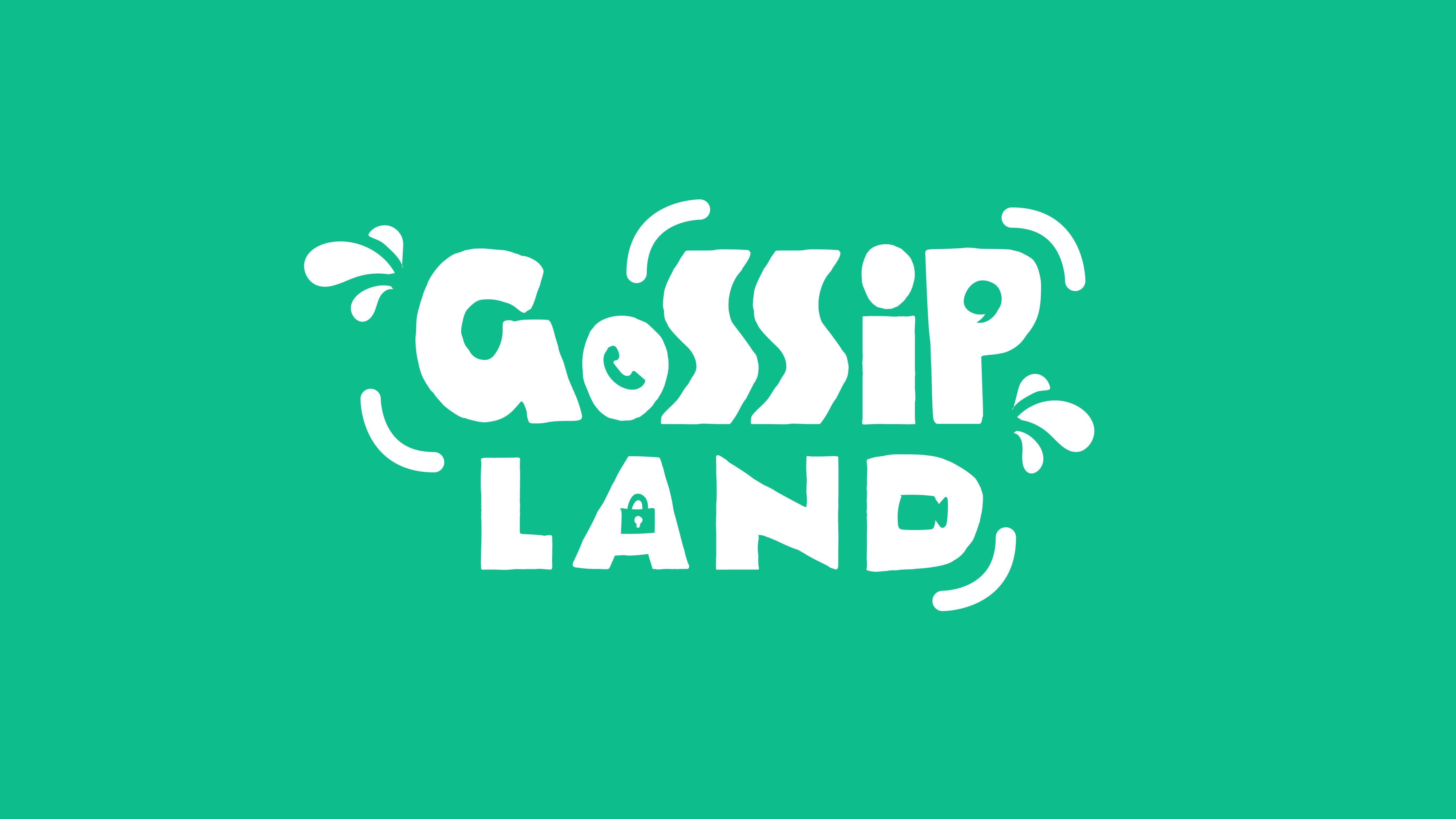 A logo for Gossip Land