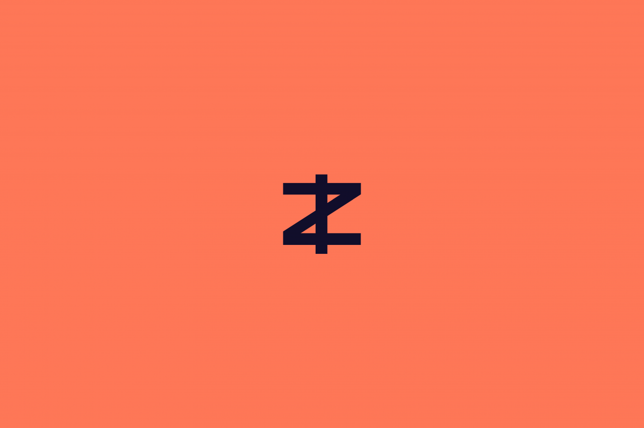 A 'Z' icon with a line through it to make it look like a currency symbol for Zcash